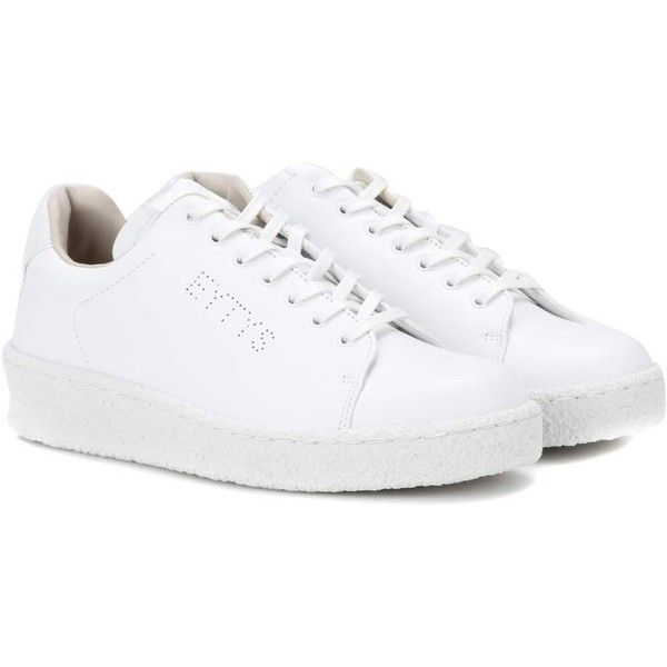Eytys Ace Leather Sneakers (2 990 SEK) found on Polyvore featuring women's fashion, shoes, sneakers, white, leather sneakers, white leather sneakers, white sneakers, white leather trainers and leather footwear