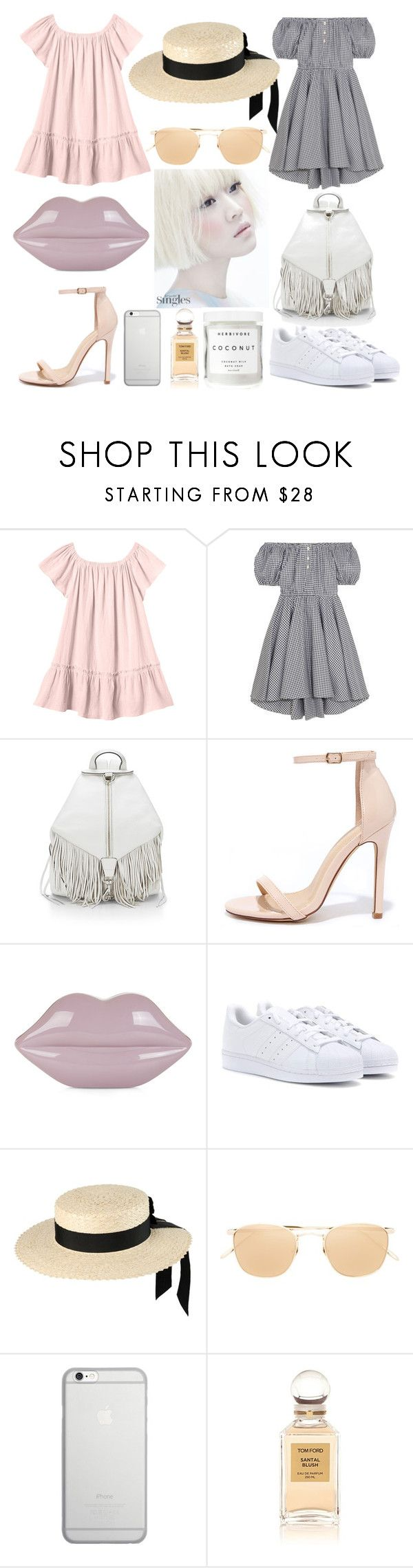 """Spring\summer 2016"" by olga-chistogasheva on Polyvore featuring мода, Rebecca Taylor, Caroline Constas, Rebecca Minkoff, Liliana, Lulu Guinness, adidas, Mich Dulce, Linda Farrow и Native Union"