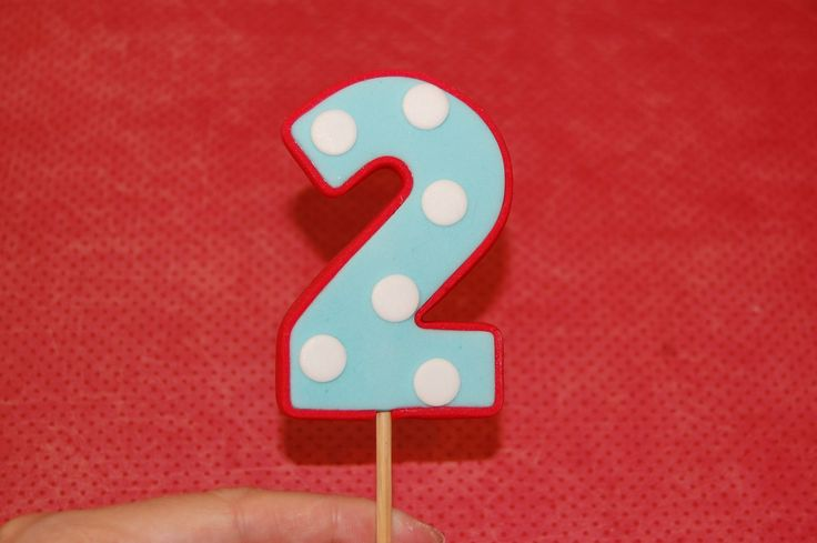 Fondant Number Topper Tutorial