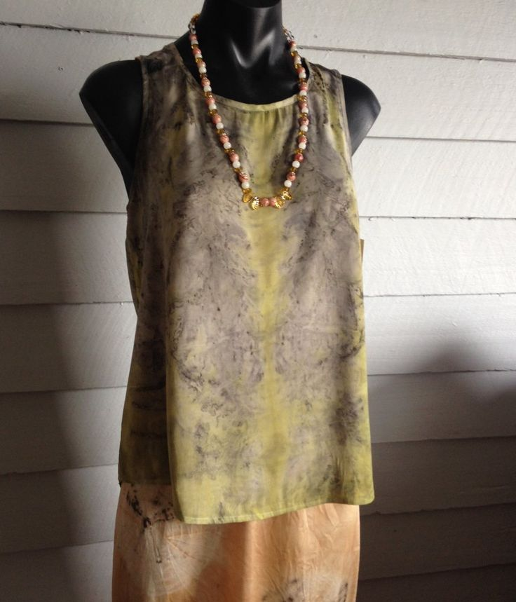 Eco dyed silk tank - Rita Summers www.gonerustic.com/product/eco-dyed-silk-tank