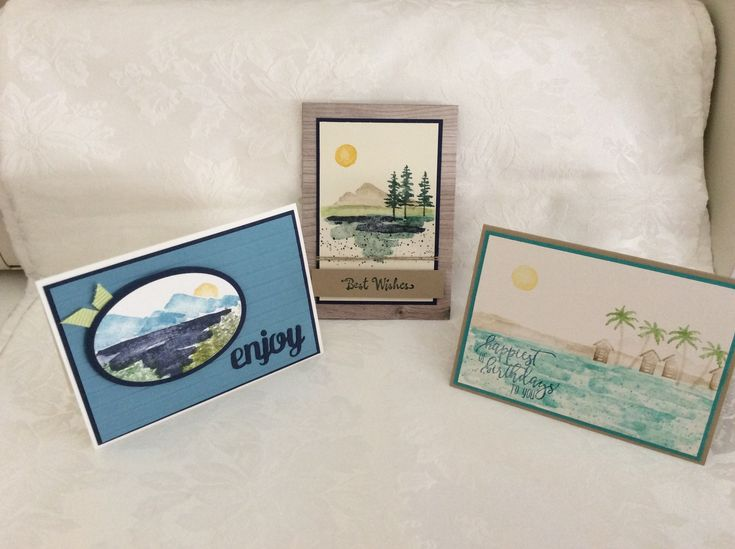 Cards I made in Tina's Stampin Up class