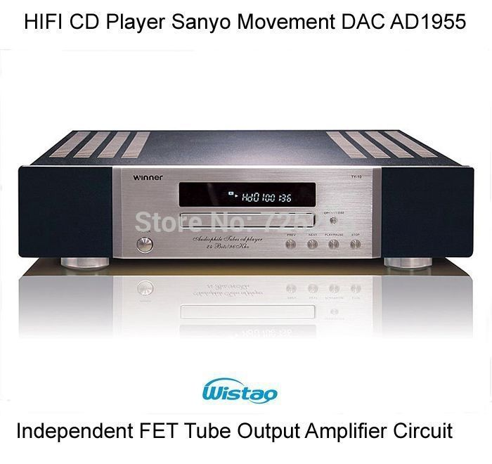 499.00$  Watch now - http://ali3hb.worldwells.pw/go.php?t=32322030488 - HIFI CD Player High Quality Movement with AD1955 Decoding Independent FET Tube Output Amplifier Circuit Marantz Audio 110V/220V