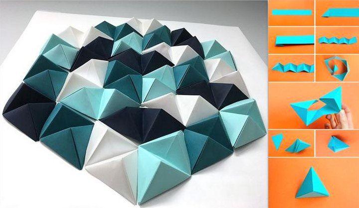 cara membuat hiasan dinding dari kertas karton - kertas lipat