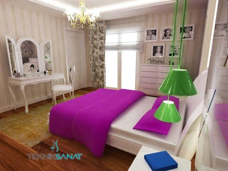 C. Demir Evi : Klasik Yatak Odası TEKNİK SANAT MİMARLIK