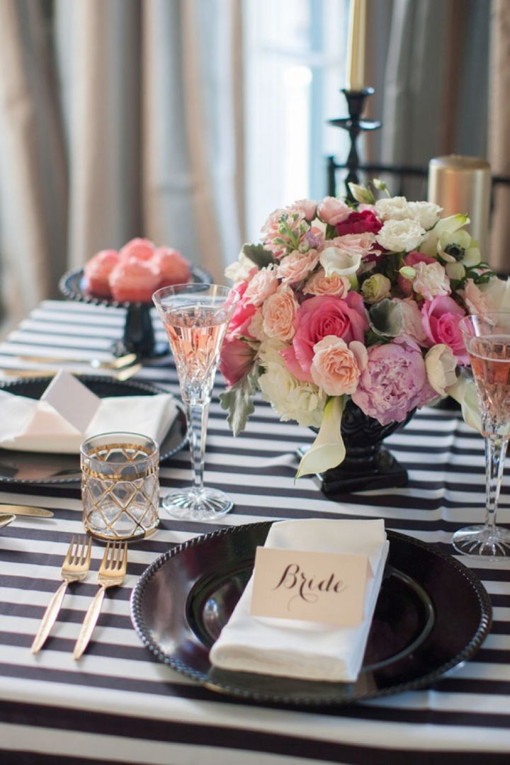 Modern Black, Pink and Gold Wedding Inspiration