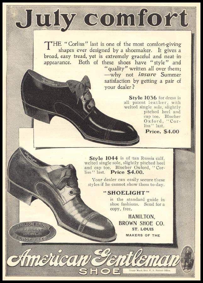 Hamilton Brown Shoe Co Shoes Ads Vintage Shoes Brown Shoe