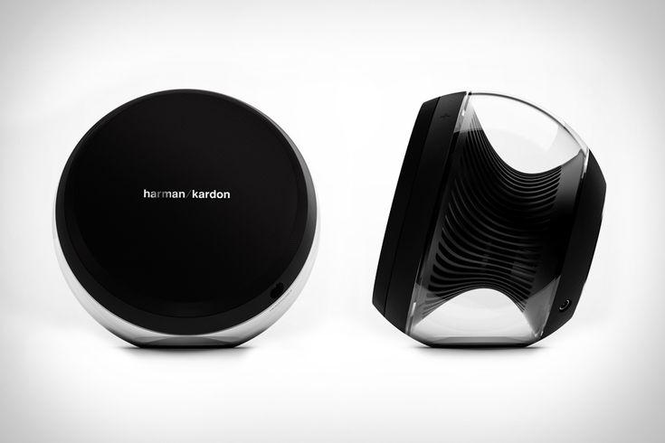 Wireless Harmon Kardon Nova Sound System  http://uncrate.com/stuff/harman-kardon-nova-sound-system/