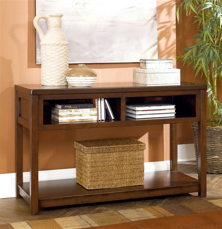 Signature Design By Ashley Sofa TableConsole In Brown