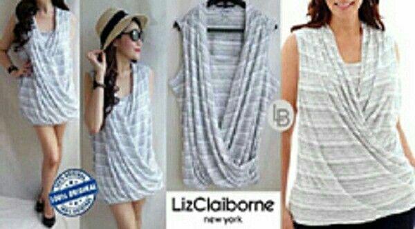 Jual Liz Claiborne Wrap Bigsize Blouse hanya Rp 75.678, lihat gambar klik https://www.tokopedia.com/mamanya-zati/liz-claiborne-wrap-bigsize-blouse     #lizclaiborne #wrap #bigsize #blouse #grey #style #liz #stripe #fashion