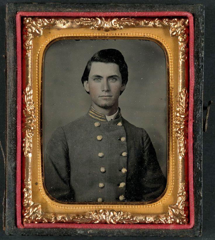 Captain Jesse Sharpe Barnes, F Company, 4th North Carolina Infantry in frock coat.