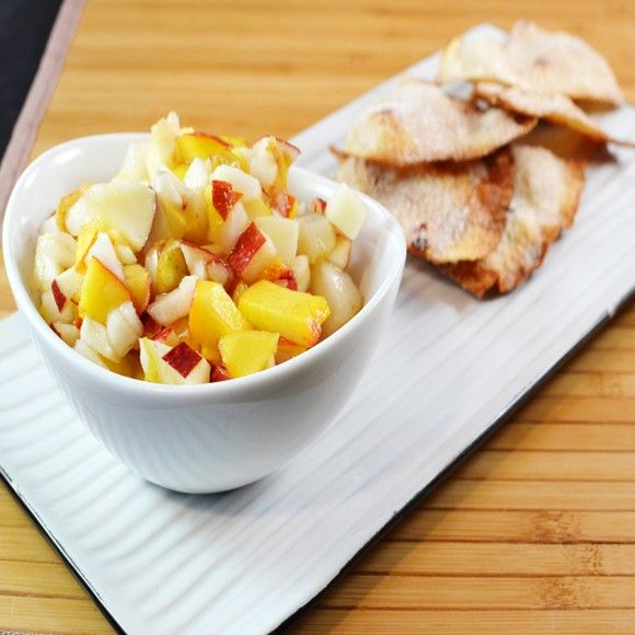 Apple Pear Salsa With Cinnamon Chips recipe by Chilly Pumpkin