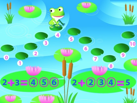 Wee Kids Math #math #kids #app #colorful #frog #kid #preschool #pond #arithmetics #math #equal #different #counting #ipad #iphone #android #iOS #Windows
