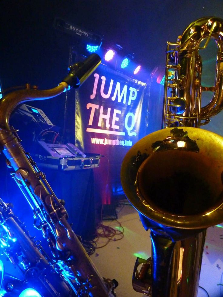 Horn section. Live music for weddings in the North East & North Yorkshire by Jump The Q. www.jumptheq.info