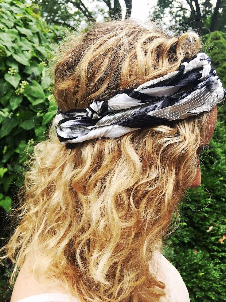 Boho Head Scarf | Hippie Headband | Boho Head Wrap | Black & Silver Hippie Hair Scarf | Bohemian Wedding Head Piece | Gypsy Silver