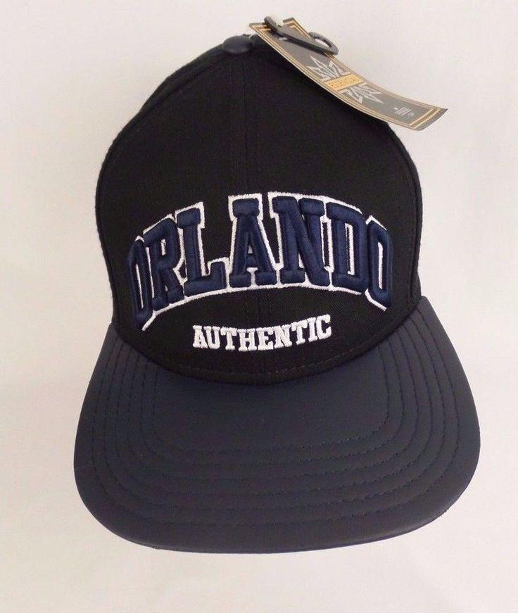 Orlando, FL USA Black/ Blue Embroidered One Size Snapback Hat Cap NWT Free Ship #PremiumCap #BallCap