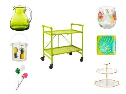 Tropical Bar Cart