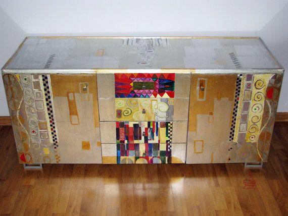 Klimtinspired glamour statement mosaic by RedVelvetFurniture, €700.00