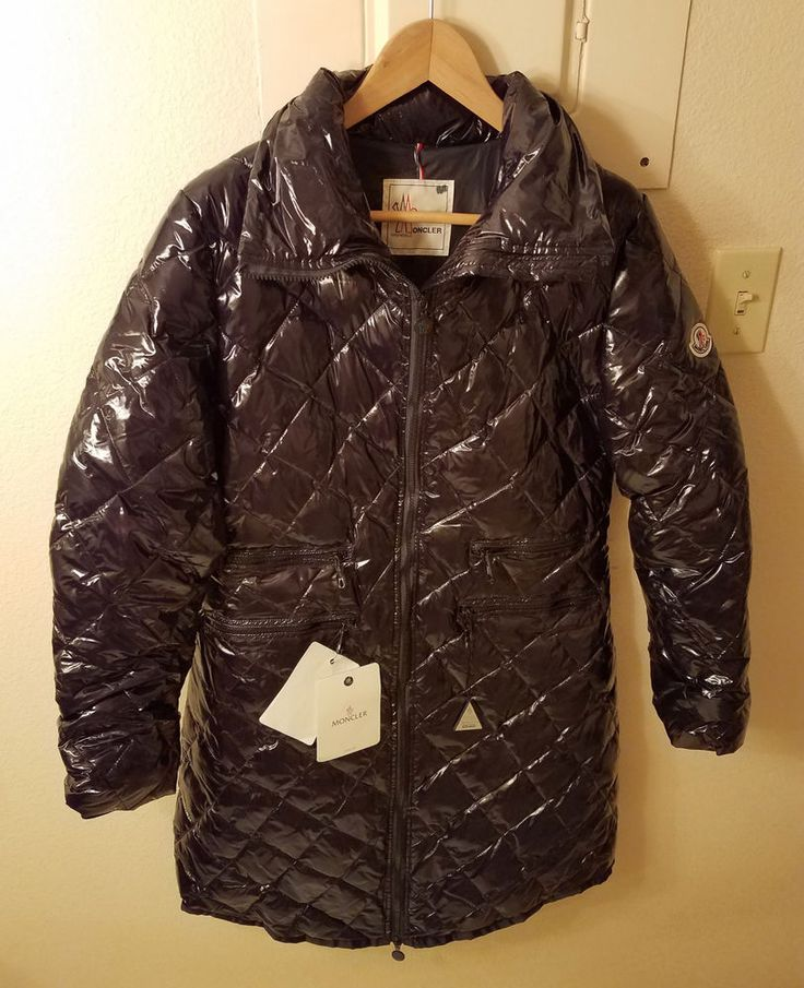 New! Moncler Long Water Resistant Black Nylon Quilted Jacket Size 2 Womens $1095 | Clothing, Shoes & Accessories, Women's Clothing, Coats & Jackets | eBay!
