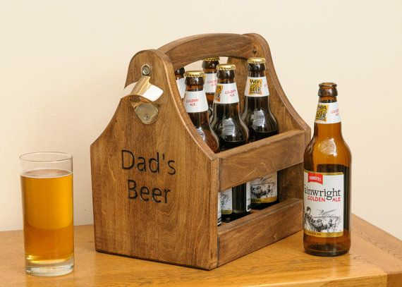 Beer caddy / bottle holder with opener