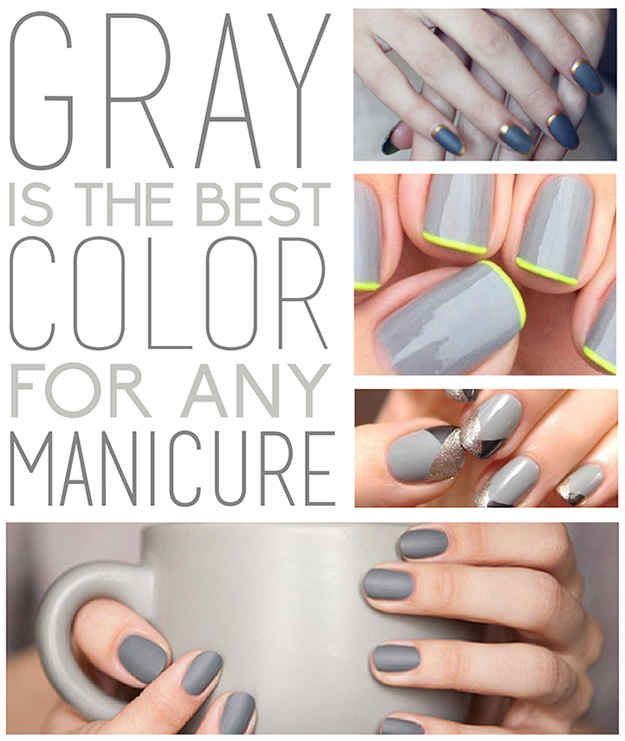 Gray Manis are dreamy for any season #nails #manicure #beauty