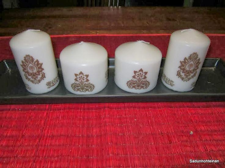 kuvioitu kynttilä