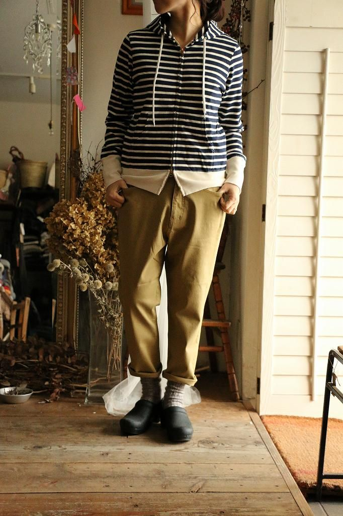 076S006130 marble SUD BASIC CHINO CROPPED PANTS 3色 coton coton