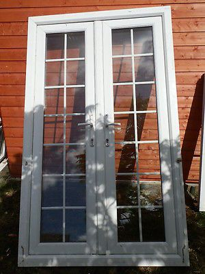 upvc white double glazed french patio doors ebay these outward opening doors have a - French Patio Doors