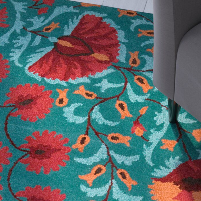 Doretta Hand Tufted Wool Teal Blue Red Area Rug Reviews Joss Main Red Area Rug Area Rugs Pink Interiors Design Red and turquoise area rugs