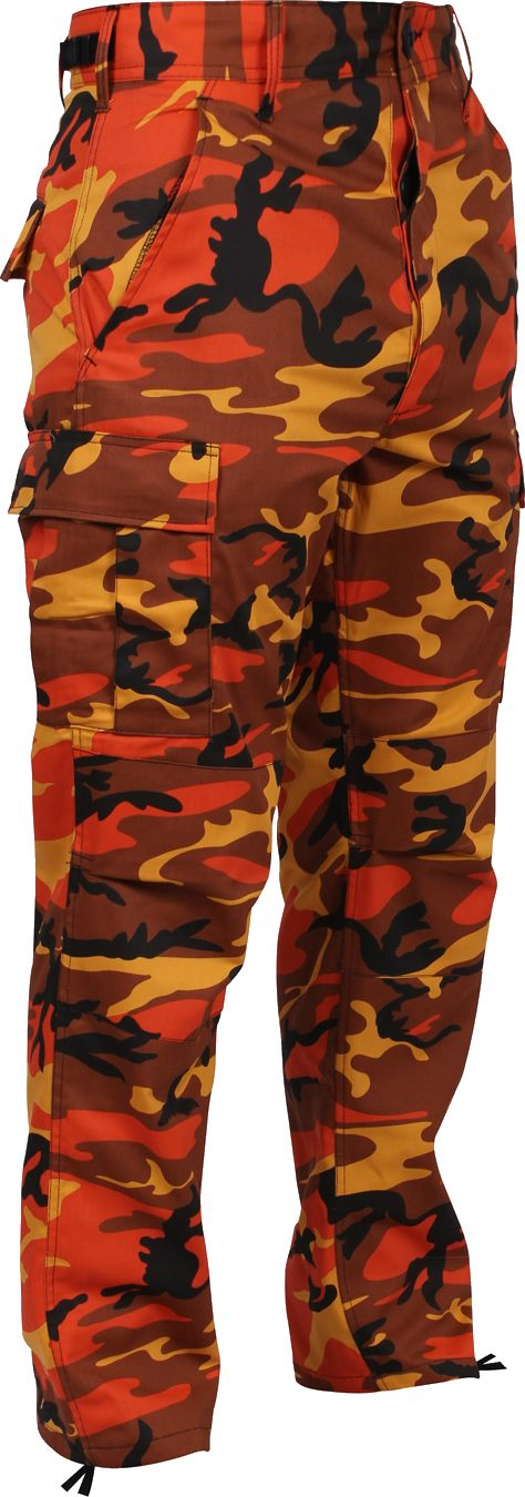 This Military Camouflage BDU Pants is made with comfortable, durable poly/cotton twill with reinforced seats & knees. Features of this BDU fatigue pant includes an adjustable waist tabs, button fly an