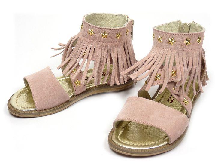 EB Shoes 900 franje sandalen - roze