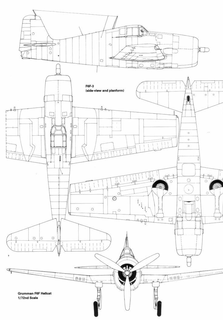 Line Drawings From D Models : Grumman f hellcat blueprint download free