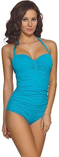 Feba Costume da Bagno Intero per Donna Liliana (Modello-06KI, EU Cup 75D/Bottom 38 (IT 3D/44)) Feba http://ebay.to/1QypuRM