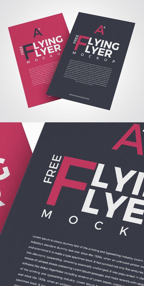 Free Flying Flyer Mockup PSD #flyer #twin #freepsdfiles #freebie