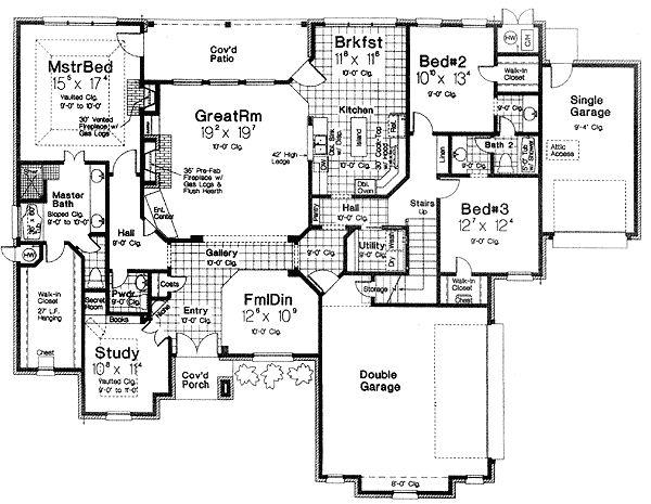 plan 48308fm  secret room in the study