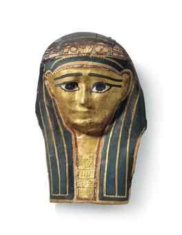 Una Máscara Dorada momia egipcia cartonaje