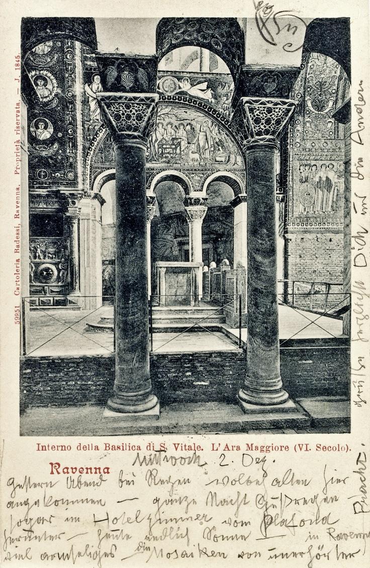 Postcard of Ravenna, from Klimt to Emilie Floege (1903).