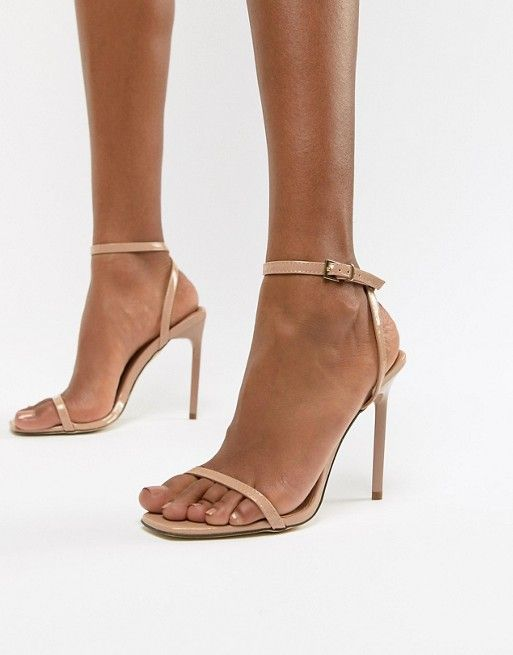 cd56f472b8808 New Look Barely There Minimal Heeled Sandal in 2019   Bride shoes ...