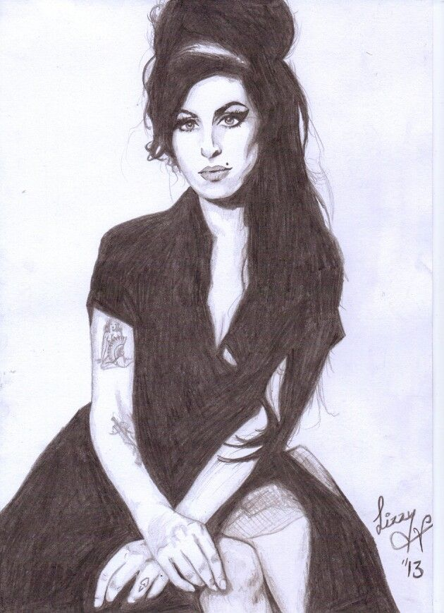 My Amy Winehouse Drawing Inspiration In 2019 Pinterest Amy