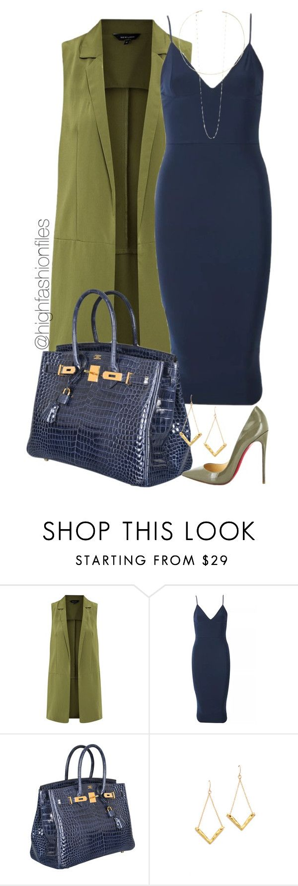 """""""Fall Out"""" by highfashionfiles ❤ liked on Polyvore featuring Hermès, Christian Louboutin, Gorjana and Jennifer Zeuner"""