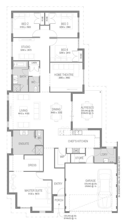 The Zambia Floorplan by GO Homes