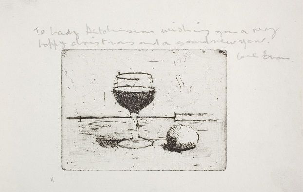 Euan Uglow: Wineglass, c.1960