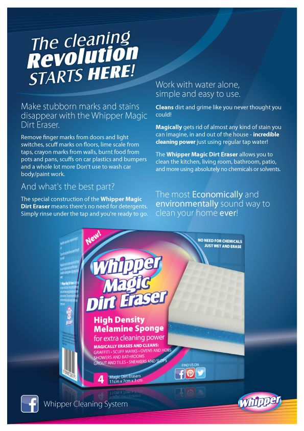 Get your box of Whipper Magic Dirt Erasers