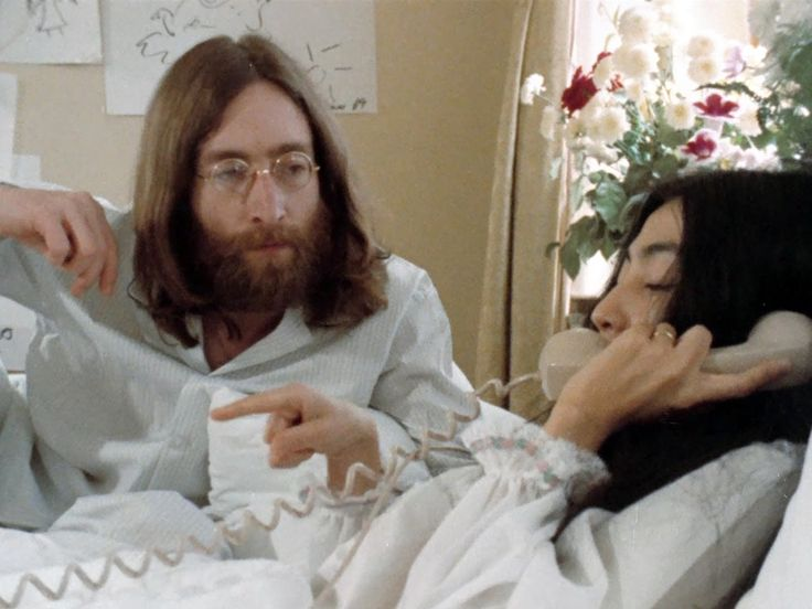 'Bed Peace' starring John Lennon & Yoko Ono - 1969 documentary that recounts their bed-in for peace. Yoko finally let the film be uploaded to YouTube in 2011.