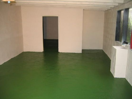 Dark green floor paint ideas for garage flooring | Flooring Ideas | Floor Design Trends