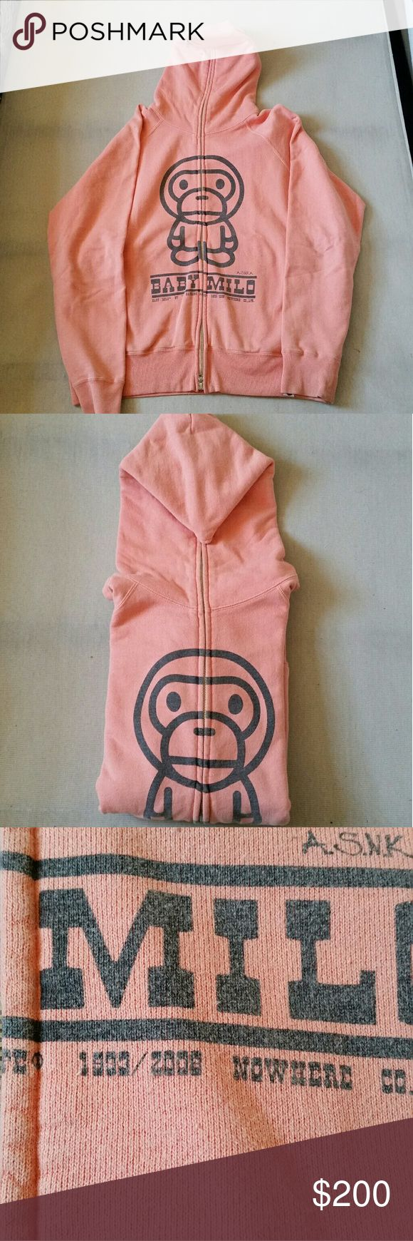 Bape rare 2008 vintage zip up hoodie This is from 2008 so the condition is not the best, but it is very rare. This is 100% authentic. Supreme Sweaters Zip Up