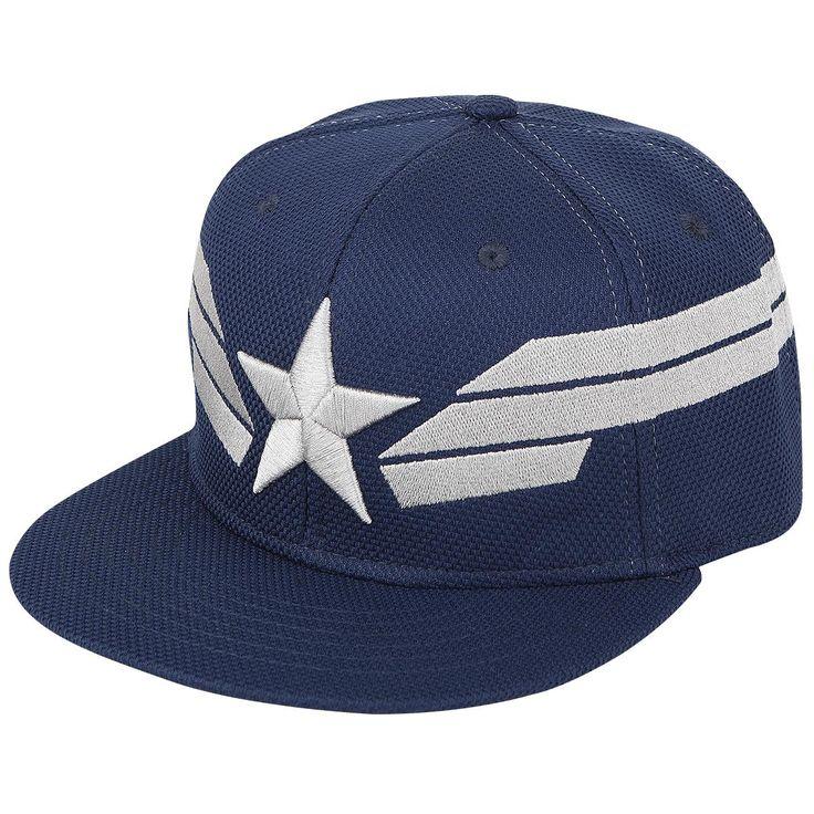 """Cappellino con visiera """"Silver Star & Stripes"""" dedicato a #CaptainAmerica con ricamo."""