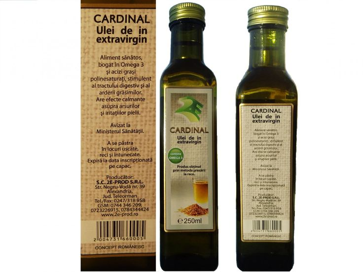 Ulei presat la rece, extravirgin, de in Cardinal - Articole - 2E-prod-Uleiuri presate la rece de nuca,dovleac...Lucrari stiintifice recente recomanda uleiul presat l arece,extravirgin de in ca fiind cea mai bogata sursa vegetala de Omega 3. Aportul de Omega 3 al acestui aliment este asimilat cu usurinta de organism, ceea ce ii asigura protectie impotriva unor afectiuni.