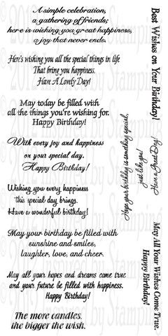 Birthday sentiments