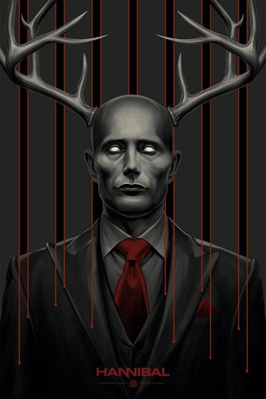 The Wendigo - Hannibal poster for Mondo by Phantom City Creative