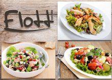 Egészségre fel! 2 db választható saláta a Flott Buda étteremben – görög, tonhalas vagy csirkemelles